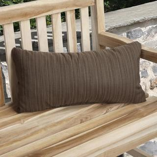 Charisma Indoor/ Outdoor Textured Brown Pillow made with Sunbrella