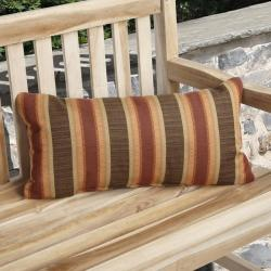 Charisma Outdoor Autumn Stripe Pillow Made with Sunbrella