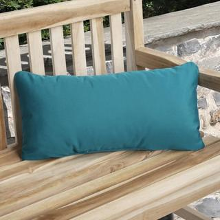 Charisma Indoor/ Outdoor Teal Blue Pillow made with Sunbrella