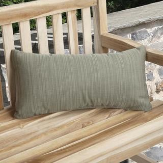 Charisma Indoor/ Outdoor Textured Sage Pillow Made with Sunbrella