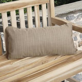 Charisma Outdoor Textured Sand Pillow Made with Sunbrella