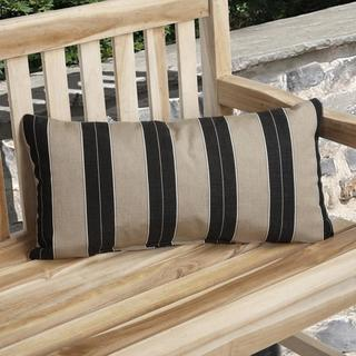 Charisma Indoor/ Outdoor Brown/ Black Pillow Made with Sunbrella