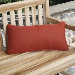 Charisma Outdoor Textured Red Pillow Made with Sunbrella