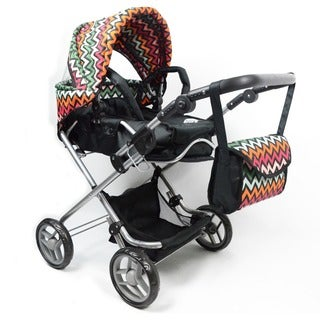 Bassinet 3-1 Chevron Doll Stroller with Carriage Bag