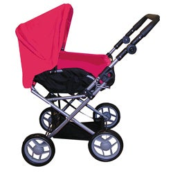 Bassinet Pink and Black Doll Stroller