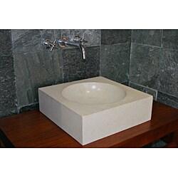 Concrete Cube Ivory Sink