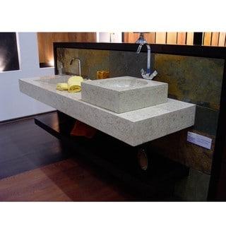 Concrete Cube Marble Sink