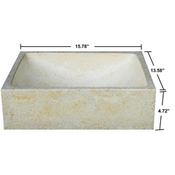 Concrete Half Moon Ivory Sink