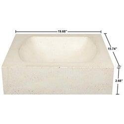 Concrete Quarter Moon Ivory Sink