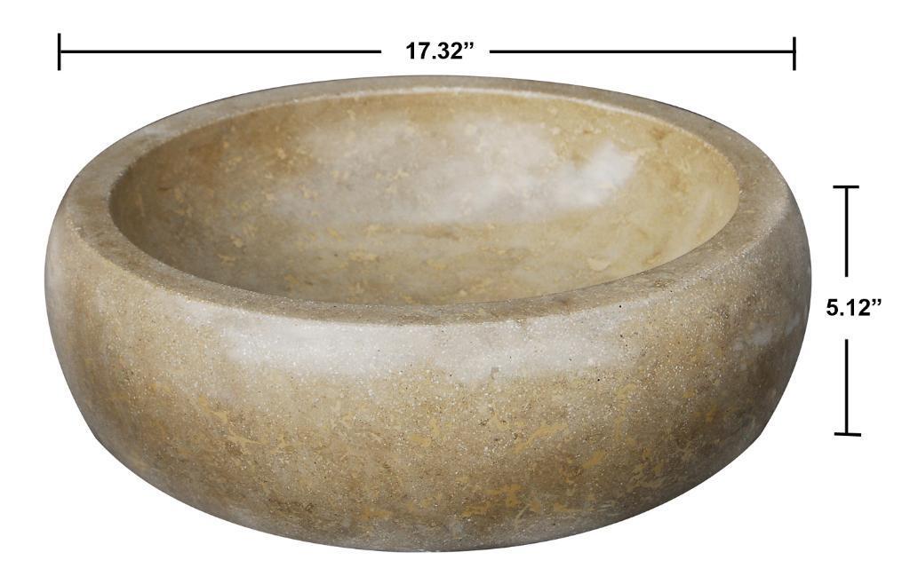 Concrete Round Beige Sink