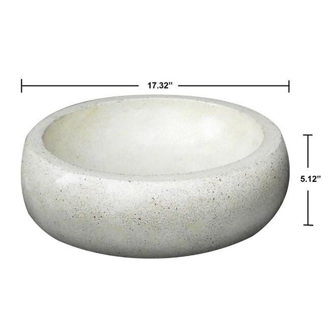 Concrete Round Ivory Sink