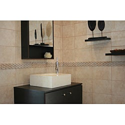 Concrete Small Cube Ivory Sink
