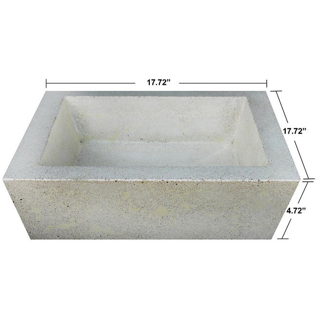 Concrete Square Incline Ivory Sink