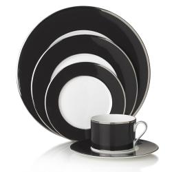 Mikasa Color Studio Black and Platinum 5-piece Dinnerware Set