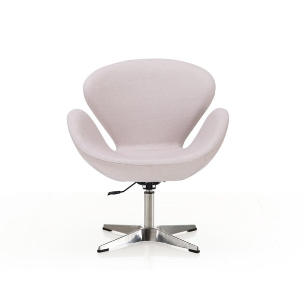 Swan adjustable White Leatherette Leisure Chair