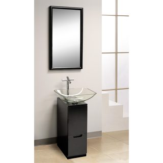 DreamLine Modern 10 in. Bathroom Vanity, Mirror and Sink
