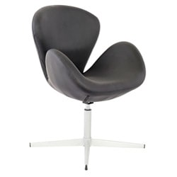 Swan Black Leatherette Adjustable Chair