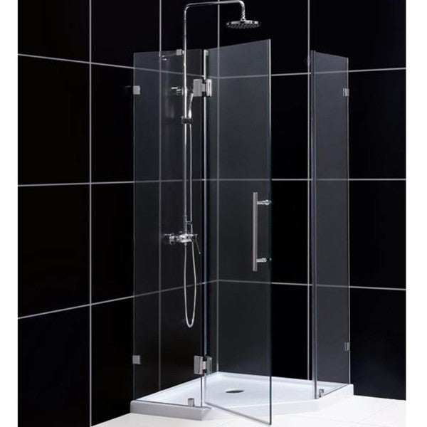 DreamLine 34 inches x 72-7/8 inches NeoLux Frameless Hinged Shower Enclosure