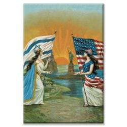 'Jewish and American Friendship' Canvas Art