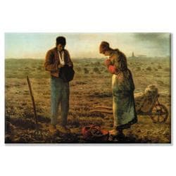 Jean Francois Millet 'Angelus' Canvas Art