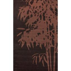 nuLOOM Handmade Moda Palm Tree New Zealand Wool Rug (5' x 8')