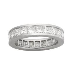 14k White Gold 4ct TDW Diamond Eternity Wedding Band (H-I, I1)