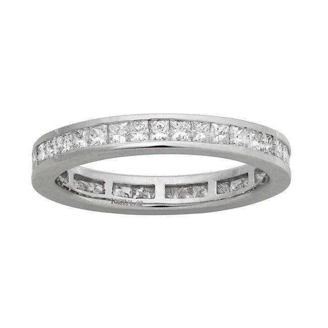 14k White Gold 1 3/8ct TDW Diamond Eternity Wedding Band (H-I, I1)