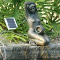 Bronze Girl Kneeling Holding Pot 2-watts Solar Water Pump Kit