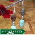 Susen Foster Silverplated 'Japanese Prayers' Jasper and Opal Earrings