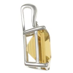 Viducci 10k White Gold Citrine and Diamond Accent Necklace (G-H, I1-I2)