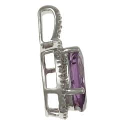 Viducci 10k Gold Amethyst and 1/10ct TDW Diamond Necklace (G-H, I1-I2)