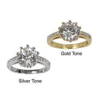 NEXTE Jewelry Gold Overlay Cubic Zirconia Solitaire Ring
