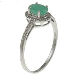 Viducci 10k Gold Emerald and 1/8ct TDW Diamond Ring (G-H, I1-I2)