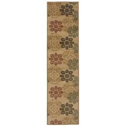 Floral Motif Area Rug (1'10 x 7'3)