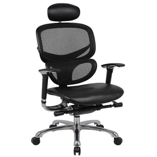 Boss Contemporary Ergonomic Mesh Back Chair with Head Rest