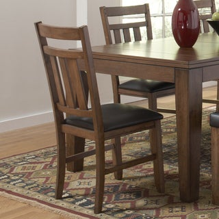 ETHAN HOME Kai Oak Brown Side Chairs (Set of 2)