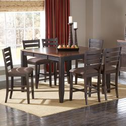 Nolan Two-tone Espresso 7-piece Mission Casual Counter Dining Set