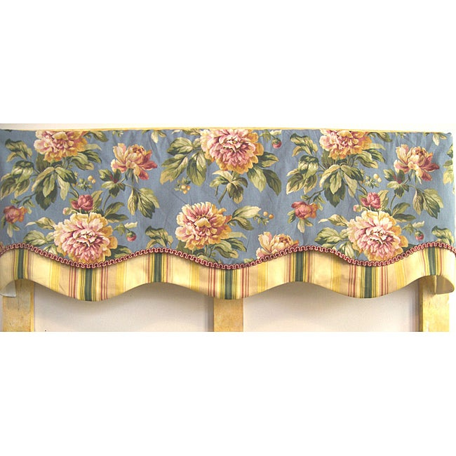 Floral Chambray 50-inch Antebellum Valance