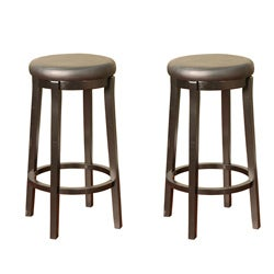 Seaton Black 30-inch Bar Stools (Set of 2)
