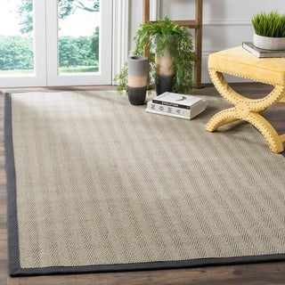 Safavieh Hand-woven Natural Fiber Uni Grey Fine Sisal Rug (5' x 8')