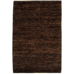 Hand-knotted All-Natural Earth Brown Hemp Rug (6' x 9')