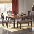 Nolan Two-tone 6-piece Butterfly Leaf Dining Set