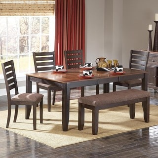 Tribecca Home Nolan Two-tone 6-piece Butterfly Leaf Dining Set