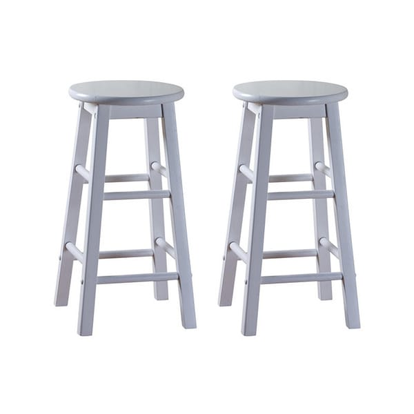 Abott White 29-inch Bar Stools (Set of 2)