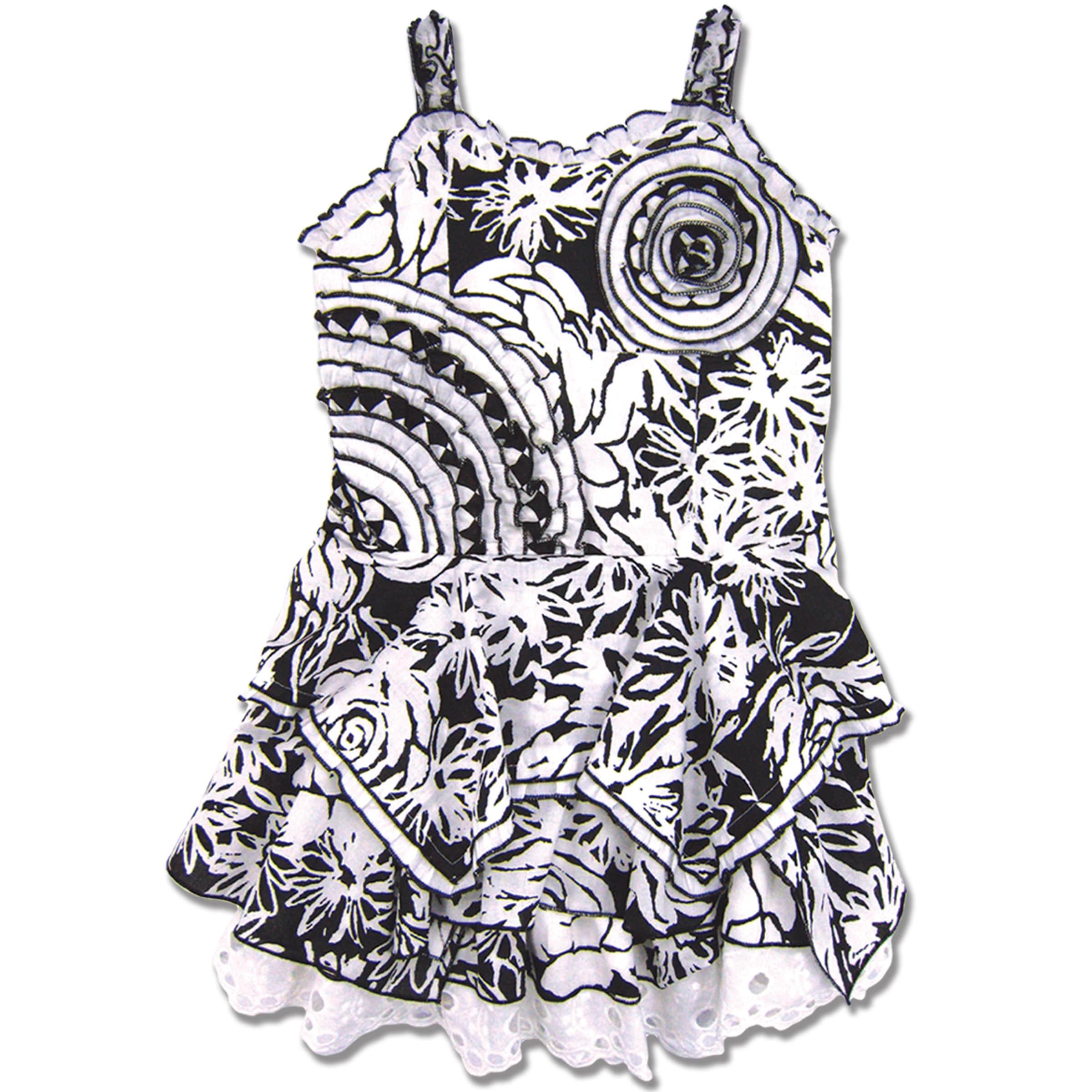 Beetlejuice London Girl's Floral Cotton Handkerchief Dress