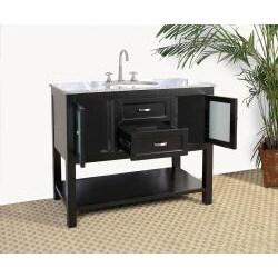 Granite Top 42-inch Single Sink Bathroom Vanity