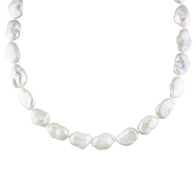 Miadora 14k White Gold Pearl and Diamond Accent Necklace (13-16mm) (G-H, I1-I2)