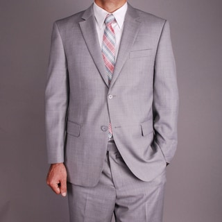 Mantoni Men's Light Grey Wool 2-button Suit