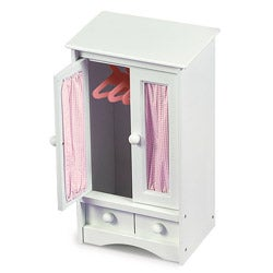 Badger Basket White/ Pink Doll Armoire