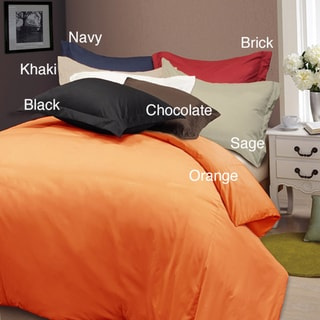 Solid Color Soft Microfiber Plain Woven 3-piece Duvet Cover Set